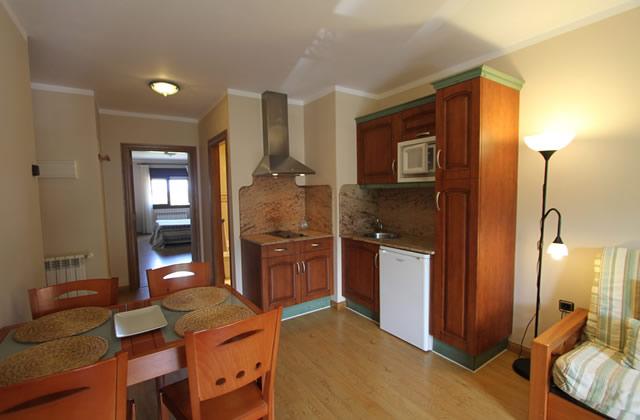 Vista de Salón-cocina de los apartamentos