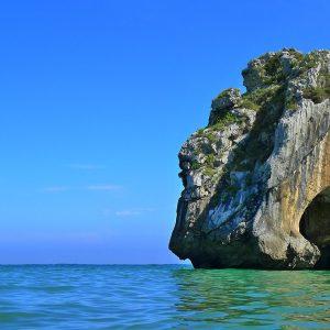 Imagen detalle roca de la Playa de Cuevas del Mar